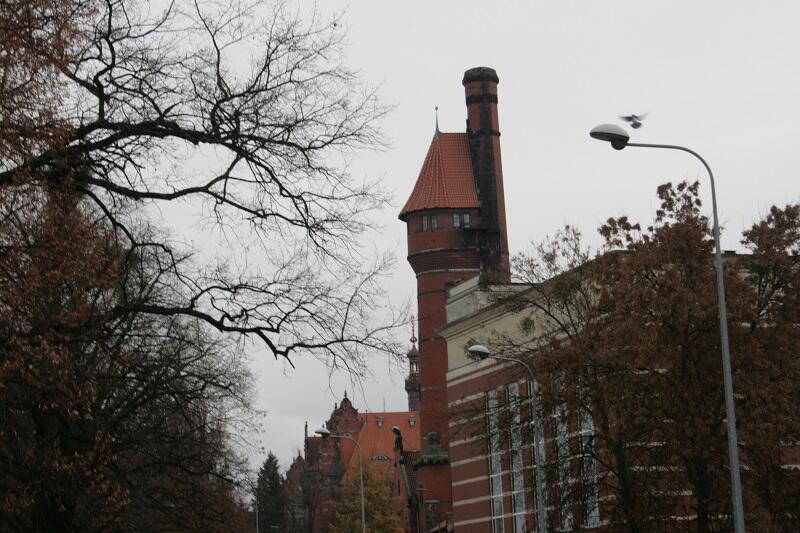 Historyczna wieża ciśnień na Politechnice Gdańskiej