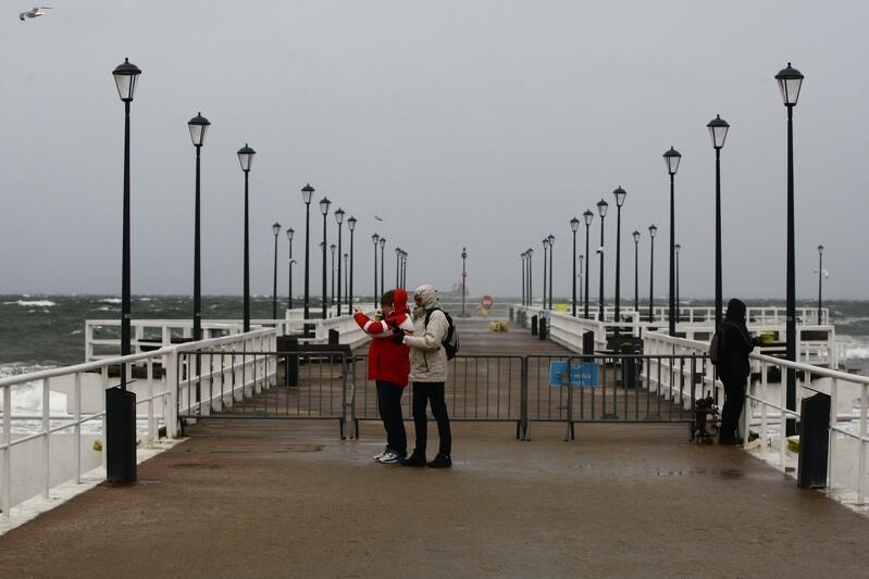 Molo w Brzeźnie zostało zamkniete dla odwiedzających