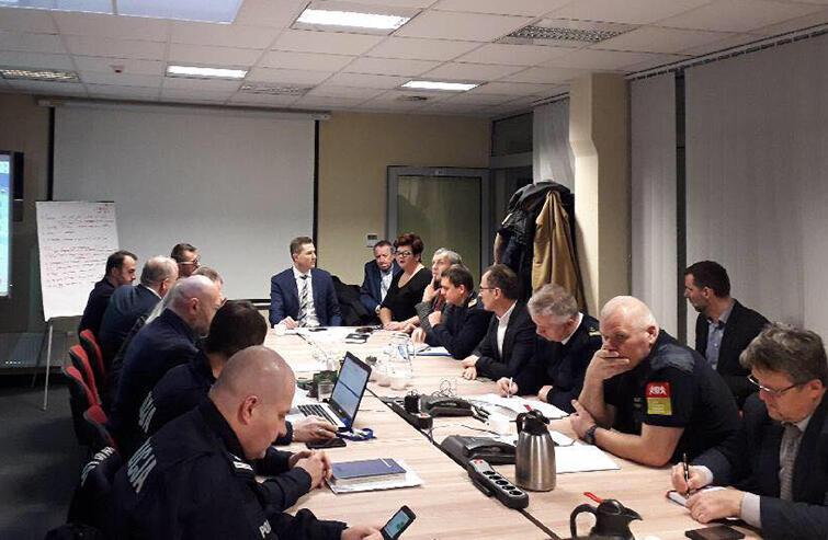 Zebranie Miejskiego Sztabu Zarządzania Kryzysowego