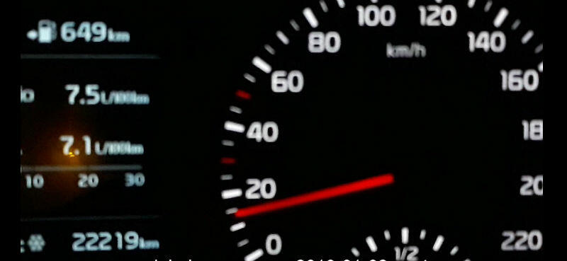 Samochody jechaly z prędkością poniżej 20 km/godz