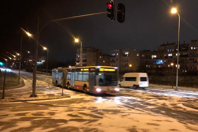 Część linii autobusowych wieczorem miała opóźnienia