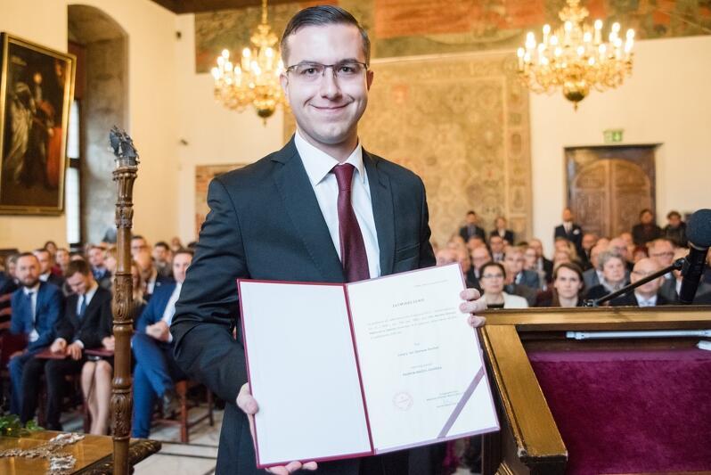 Cezary Śpiewak-Dowbór w listopadzie 2018 roku podczas ślubowania gdańskich radnych kadencji 2018-2023