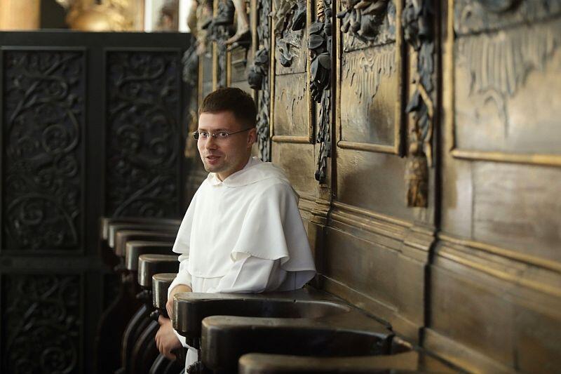 Ojciec Michał Osek, subprzeor klasztoru dominikanów w Gdańsku