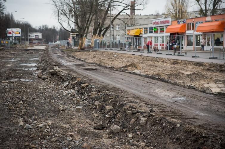 Na Stogach trwają obecnie intensywne prace związane m.in. z wymianą podziemnych sieci