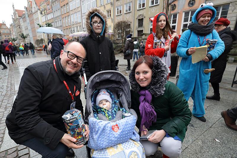 Długi Targ w Gdańsku. 27 finał Wielkiej Orkiestry Świątecznej Pomocy. 13 stycznia 2019 r.