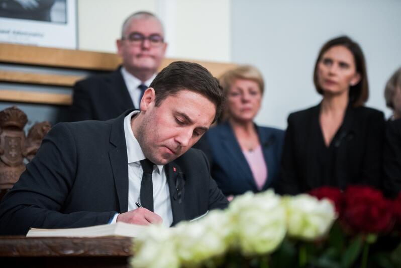 Nz. Piotr Borawski, zastępca prezydenta Gdańska ds. prezydenta Gdańska ds. przedsiębiorczości, środowiska, ochrony klimatu, informatyzacji i bezpieczeństwa