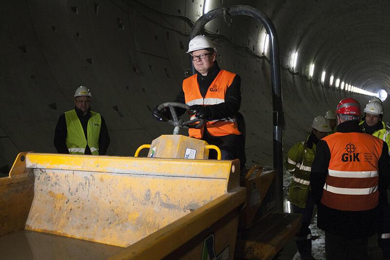 Pierwszy spacer w gotowej nitce tunelu pod Martwą Wisłą