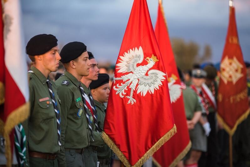Ceremonia zamknięcia zlotu w 100-lecie ZHP. Gdańsk, Wyspa Sobieszewska, 15 sierpnia 2018 r.