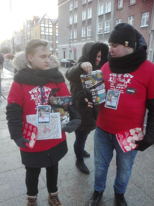 Wolontariusze na ulicach Gdańska są od samego rana
