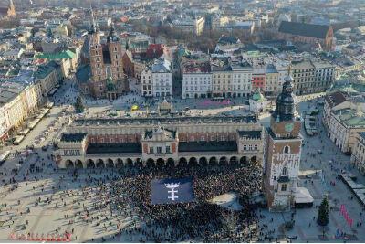 Sobota, 19 stycznia. Mieszkańcy innych polskich miast uczcili pamięć prezydenta Adamowicza. The Sound of Silence  w Krakowie