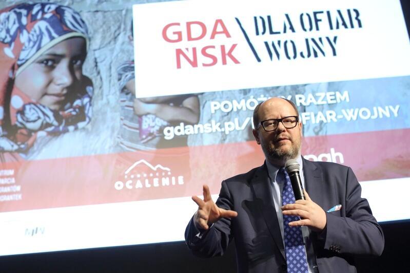 Początek kampanii `Gdańsk solidarny dla ofiar wojny`, kwiecień 2017 r.