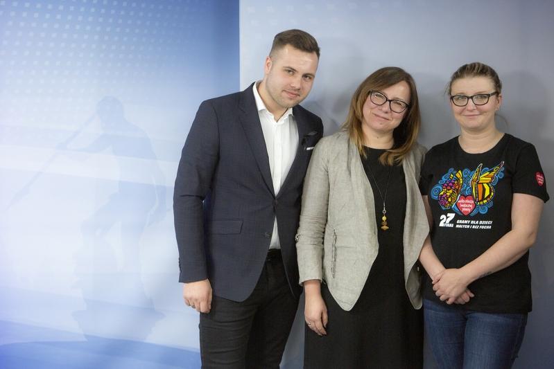 Od prawej: Patrycja Krzymińska, Anna Kobylska, Dawid Jastrzębski