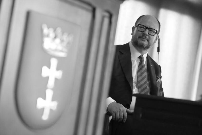 Prezydent Gdańska Paweł Adamowicz podczas sesji Rady Miasta Gdańska, 2017 r.