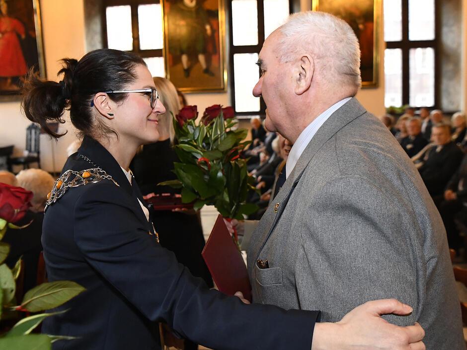 Aleksanra Dulkiewicz na jubileuszu 50,55,60 lecia pożycia małżeńskiego Fot. Janusz Drozdowski