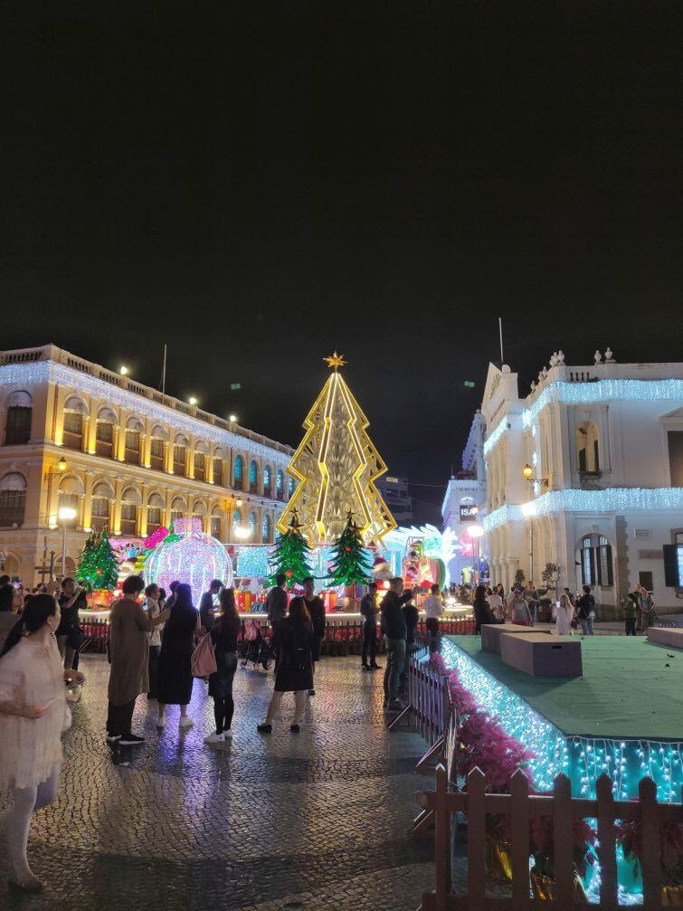 Świąteczny wystrój w byłej portugalskiej kolonii, mieście Makau, obecnie będącym częścią Chińskiej Republiki Ludowej