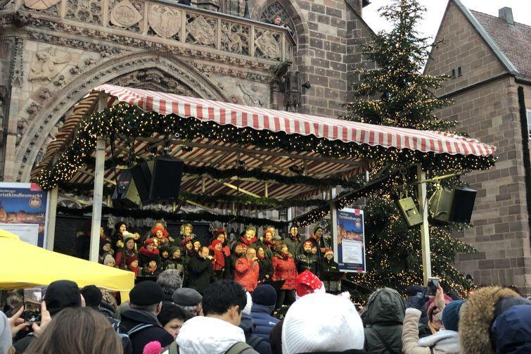 Jarmark Świąteczny w niemieckim mieście Norymberga w Bawarii
