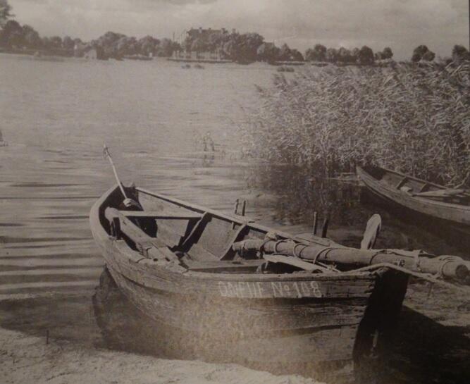 Łodzie rybackie z Górek na brzegu Wisły