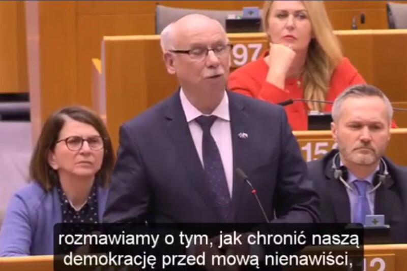 Janusz Lewandowski mówi w Parlamencie Europejskim o śmierci prezydenta Adamowicza i konieczności walki z mową nienawiści we wszystkich państwach UE