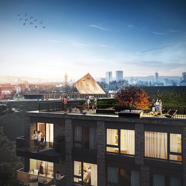 Na dachu budynku zaplanowano taras widokowy