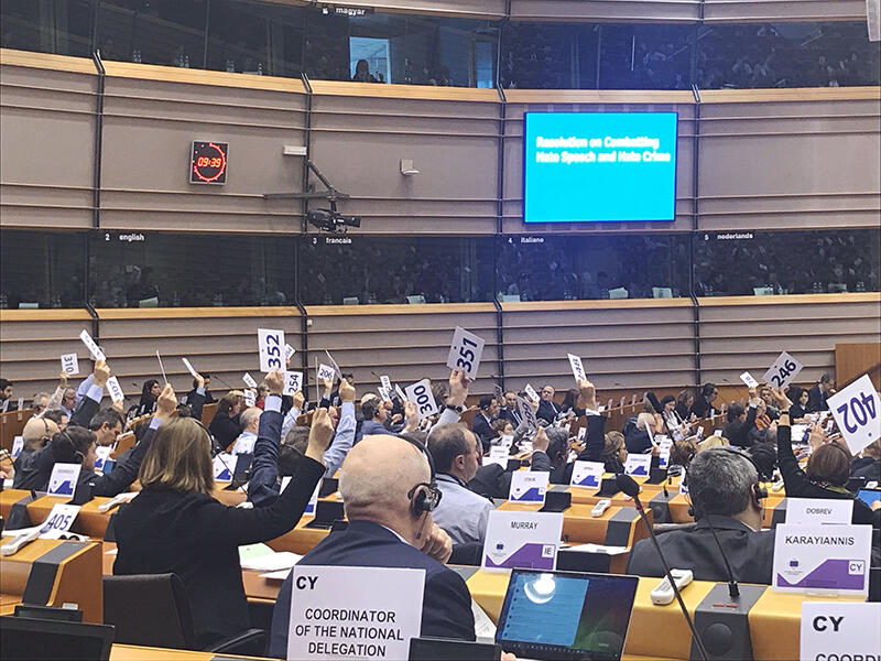 Europejski Komitet Regionów przyjął w czwartek jednogłośnie rezolucję w sprawie 'Zwalczania nawoływania do nienawiści i przestępstw z nienawiści'