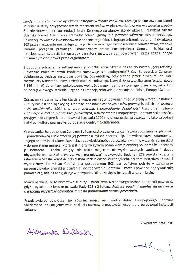 List do ministra Glińskiego_Strona_2