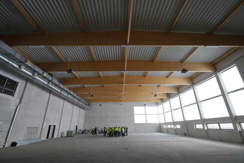 Sala gminastyczna w nowej szkole