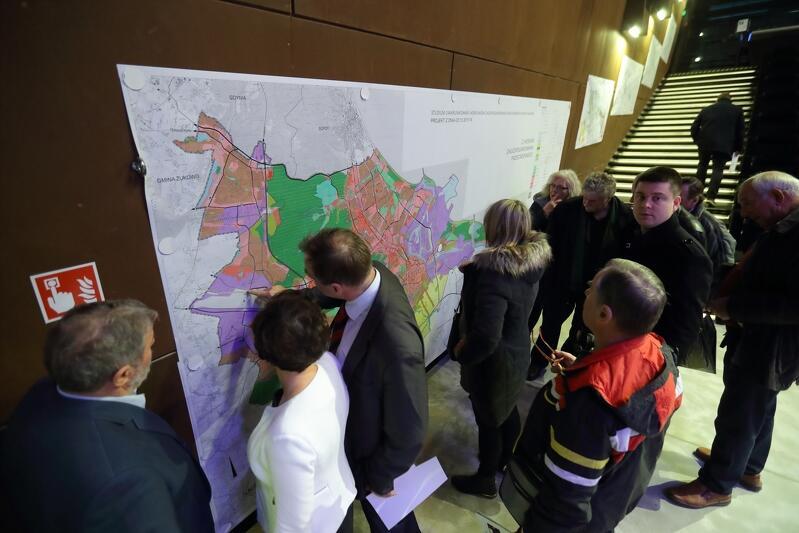 Prezentacja założeń Studium, podczas spotkania z mieszkańcami Gdańska w ECS, w listopadzie 2017 r.