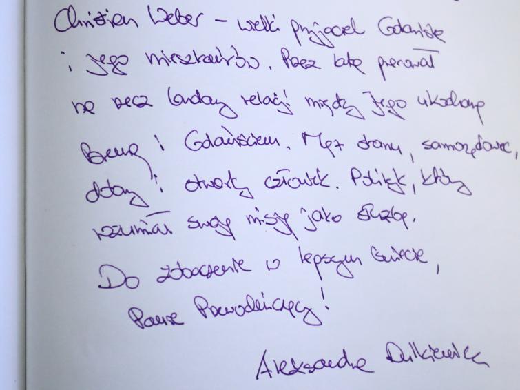 Wpis Aleksandry Dulkiewicz