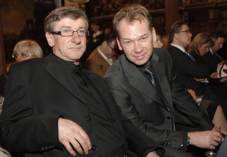 Poeta Aleksander Jurewicz i aktor Mirosław Baka podczas VI plebiscytu Orzeł Pomorski, 2008 r.