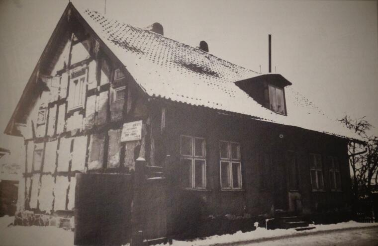 Domek ryglowy z początku XIX wieku, Leczkowa 31; rozebrany w 1970 roku