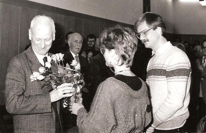 Pożegnanie rektora Karola Taylora, 30 listopada 1985