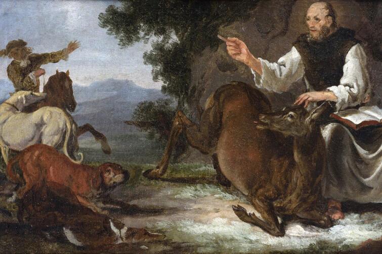 Jeden z obrazów Carla Borromäusa Rutharta, który można zobaczyć w trakcie trwania wystawy