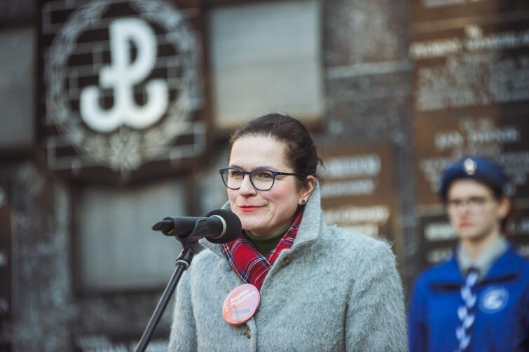 Przemawia Aleksandra Dulkiewicz, pełniąca obowiązki prezydenta Gdańska