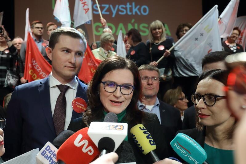 Aleksandra Dulkiewicz po głosowaniu w swoim sztabie wyborczym