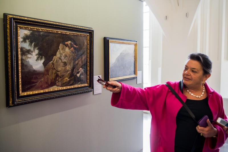 Prof. Lucia Abrace, dyrektor Polo Museale dell'Abruzzo, inicjatorka wystawy po stronie włoskiej
