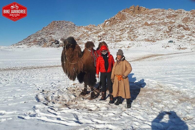 Artur Wysocki na poczet Bike Jamboree przemierzył 1400 km po zaśnieżonych stepach Mongolii