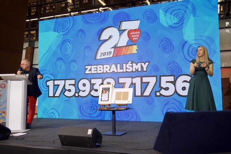 Ponad 175 mln złotych! Taka kwota została zebrana podczas 27. Finału WOŚP. To fantastyczny wynik