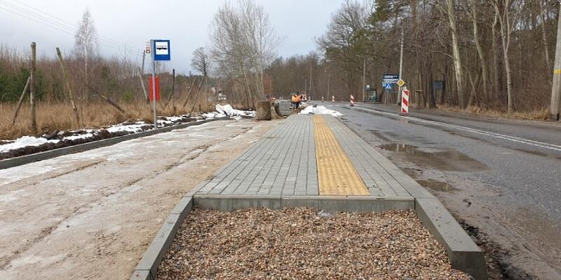 Budowane są droga rowerowa i droga wojewódzka