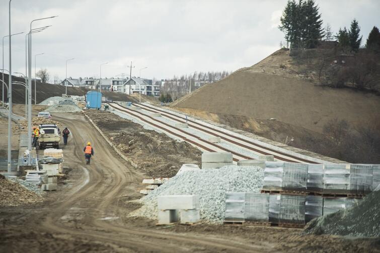 Zaawansowanie robót na tym placu budowy wynosi 70 proc.