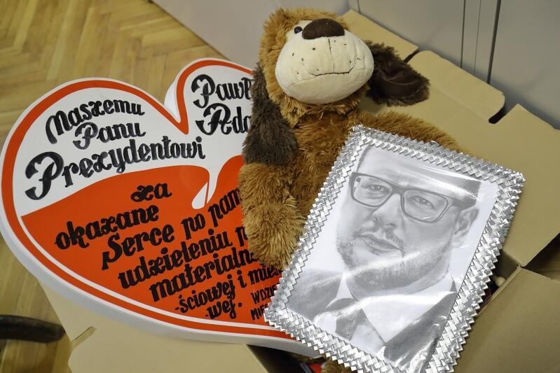 Naszkicowany portret Pawła Adamowicza przysłał Bogdan Żywica z Włocławka