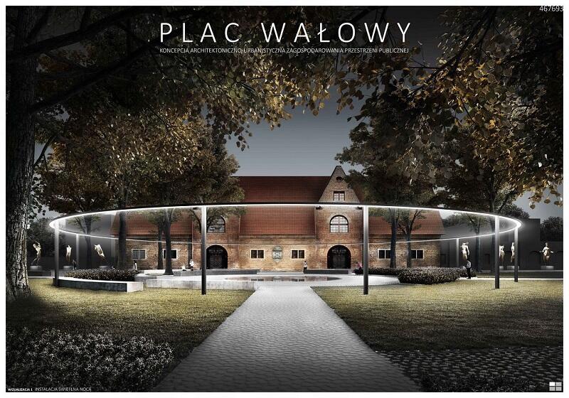 Zwycięska koncepcja zagospodarowania Placu Wałowego autorstwa pracowni Gzowski Architekci