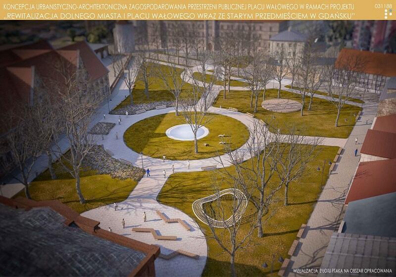 Koncepcja pracowni Garden Concept Architekci Krajobrazu zdobyła II nagrodę w konkursie na zagospodarowanie przestrzenne Placu Wałowego w Gdańsku
