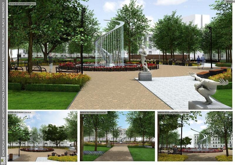 W konkursie udział brała także koncepcja zagospodarowania autorstwa pracowni Greenbox Architekci