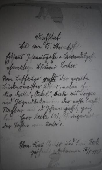 Notatka na odwrocie zdjęcia