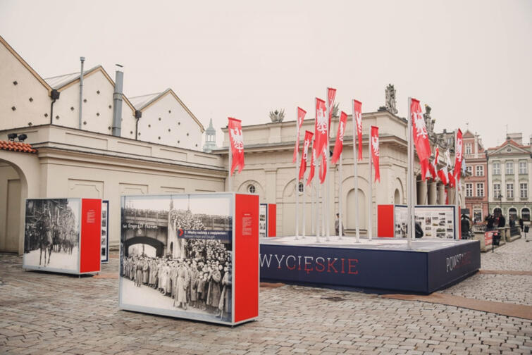 Instalacja o Powstaniu Wielkopolskim w Poznaniu