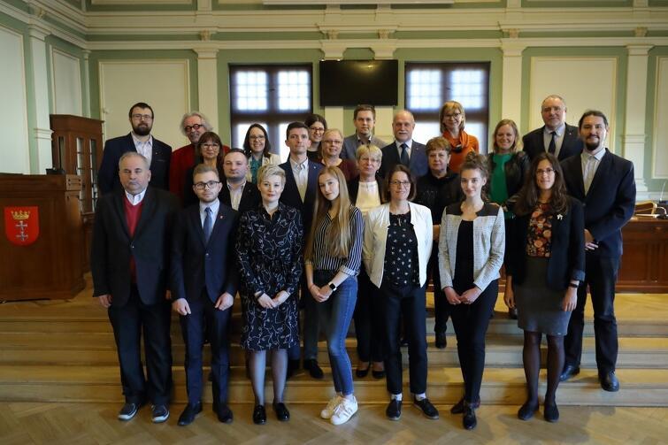 Rada Dzielnicy Jasień wraz z radnymi Miasta Gdańska