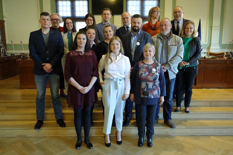 Rada Dzielnicy Stogi wraz z radnymi Miasta Gdańska