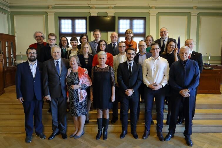 Rada Dzielnicy Suchanino wraz z radnymi Miasta Gdańska