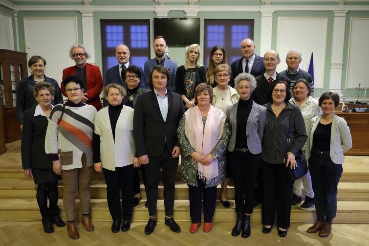 Rada Dzielnicy Młyniska wraz z radnymi Miasta Gdańska