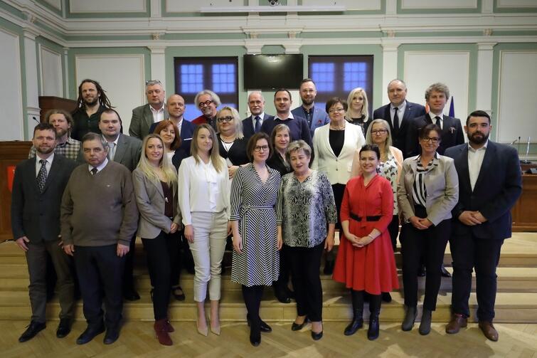 Rada Dzielnicy Wrzeszcz Górny wraz z radnymi Miasta Gdańska